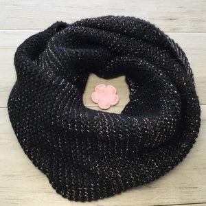 Steve Madden Black Infinity Scarf - One Size